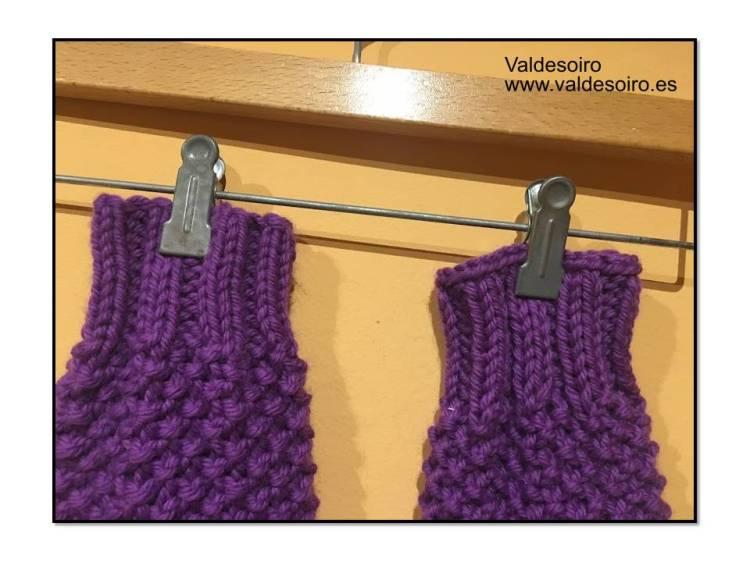 calentapiernas de lana