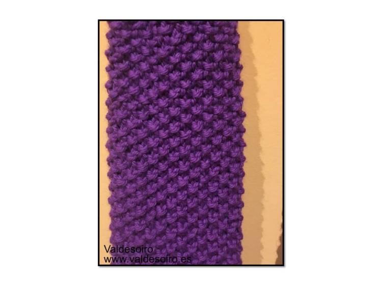 calentapierna de lana
